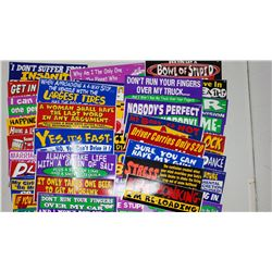 LARGE LOT OF BUMPER STICKERS