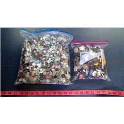 2 BAGS OF MISC. BUTTONS