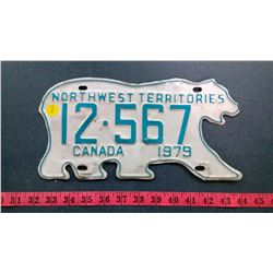 NWT LICENSE PLATE