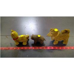 3 WINDUP TOYS - DOG, CAT, BEAR