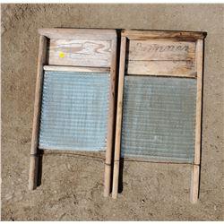 2 WASHBOARDS (GLASS)