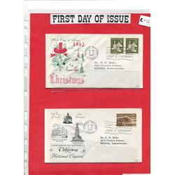 CANADA POST - FOUR FIRST DAY OF ISSUE POSTAL ENVELOPES - SPECIALLY MADE FOR COLLECTORS