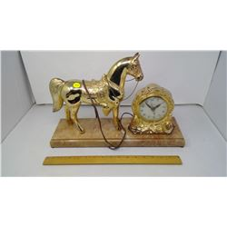 OLD ELECTRIC HORSE CLOCK