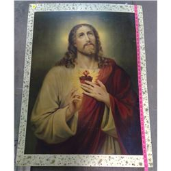 JESUS PICTURE ON PLYWOOD (FROM DEBDEN NUN'S RESIDENCE)