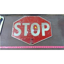 ANTIQUE STOP SIGN / SLOW SIGN