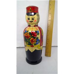 HAND MADE RUSSIAN WOODEN DOLL