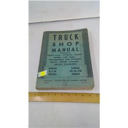 57, '58, '59 DODGE AND PARGO SHOP MANUAL - USED LIGHTLY
