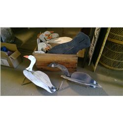 BOX FULL OF OLD GOOSE DECOYS