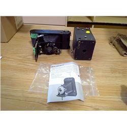 KODAK FOLD UP CAMERA AND BOX CAMERA (VINTAGE)