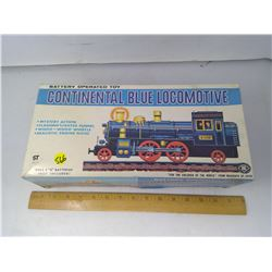 BATTERY OPERATED TIN TRAIN IN BOX