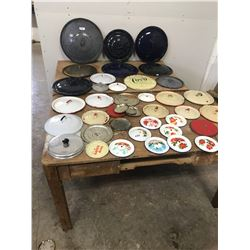 OVER 40 LIDS - ENAMEL, TIN, AND GRANITE WARE - YOU'RE LOOKING FOR ONE OF THESE!