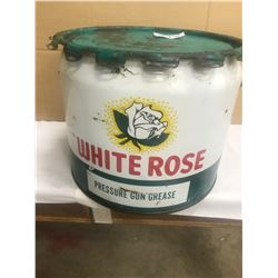 WHITE ROSE - 25LBS GREASE PAIL - HARD TO FIND IN THIS CONDITION!