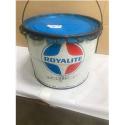 ROYAL LITE 25LBS GREASE PAIL - HARD TO FIND IN THIS CONDITION!