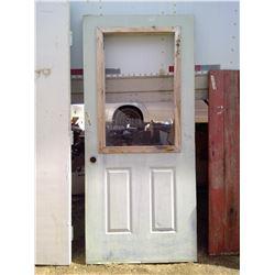 """OUTSIDE DOOR (36"""" X 80"""") - BROKEN WINDOW"""