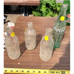 COCA-COLA, PEPSI, AND FANTA GLASS POP BOTTLES