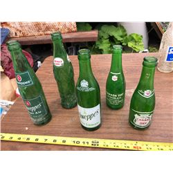 CANADA DRY, SCHWEPPES, AND AMERICA DAY GLASS POP BOTTLES