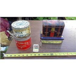 ASSORTED TINS AND CARDS