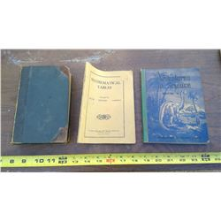 OLD MATH, HISTORY, AND SCIENCE SCHOOL BOOKS