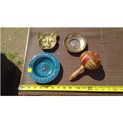 ASH TRAY AND CUBA RATTLE