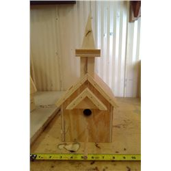 "CHURCH BIRD HOUSE (5 3/4"" X 7 3/4"" X 14""H)"