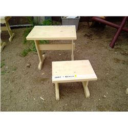 """CHILD'S TABLE AND BENCH ( 21 1/2 X 14 3/4 X 19 3/4"""" H)"""