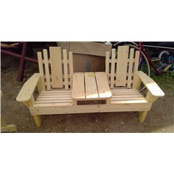 """DOUBLE CHAIR ( 51 X 18 1/2 X 24 1/2"""" H)"""