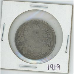 1919 CANADIAN 50 CENT