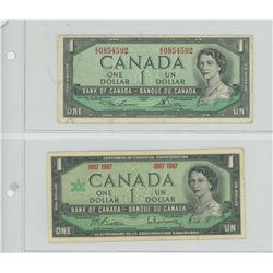 2 CANDIAN $1 - 1954-1967