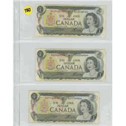 3 CANADIAN $1 - 1973