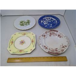 4 OLD PLATES