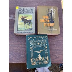 3 NOVELS - BURGESS, FROM HERE TO ETERNITY, FOWLS OF THE AIR