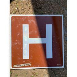 SASK. GOVERNMENT HOSPITAL ROAD SIGN - SMALL