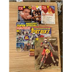 3 TV GUIDE MAGAZINES AND 3 DIRTBIKE MAGAZINES