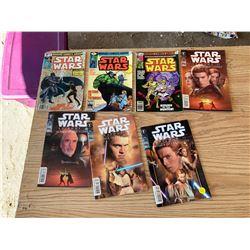 7 STAR WARS COMICS