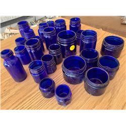 MINI BLUE COBALT JARS