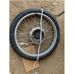 VINTAGE CHEVY SHIN MOTORCYCLE WHEEL/TIRE 3.00-21