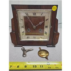 mantle clock with key and pendulum Haller Foreign
