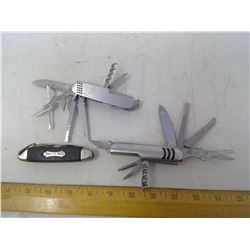3 Multi-Tools/Swiss Army Knives