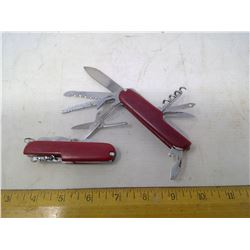 2 Multi-Tools/Swiss Army Knives