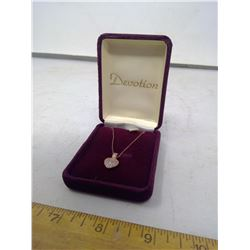 Devotion Sterling Silver Heart Necklace
