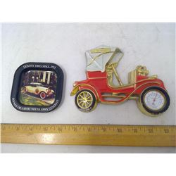 1902 Peugeot Thermometer and Quality Tires Tray