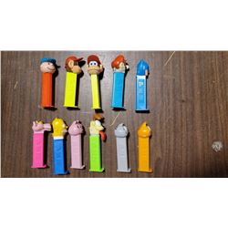 GARFIELD, MARIO, SIMPSON, ETC PEZ DISPENSERS