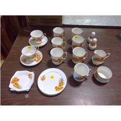 prairie lily tea set, royal windsor china