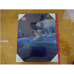 "coca cola polar bear picture 16""x20"""