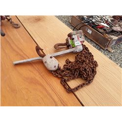 1507___1 -- 3 ton chain come-a-long (red)