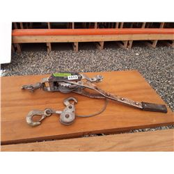 1513___1 -- wire rope come-a-long (silver)