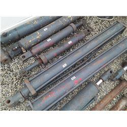 """1563___1 -- hydraulic cylinder 4 1/2"""" OD x 75"""" long"""