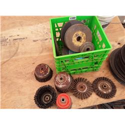 1590___1 -- Wire wheel misc. brushes (green crate)