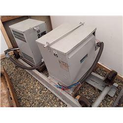 1593___1 -- Rex 45 KVA 3 ph. Transformer