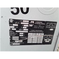 1594___1 -- Hammond 50 KVA 1 ph. Transformer